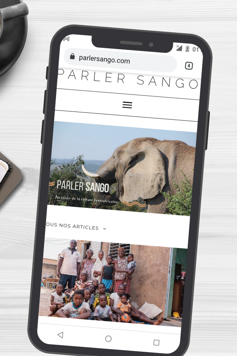 Blog parler Sango en version mobile